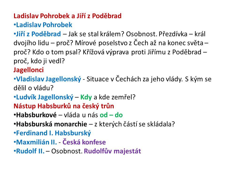 Ladislav Pohrobek a Jiří z Poděbrad