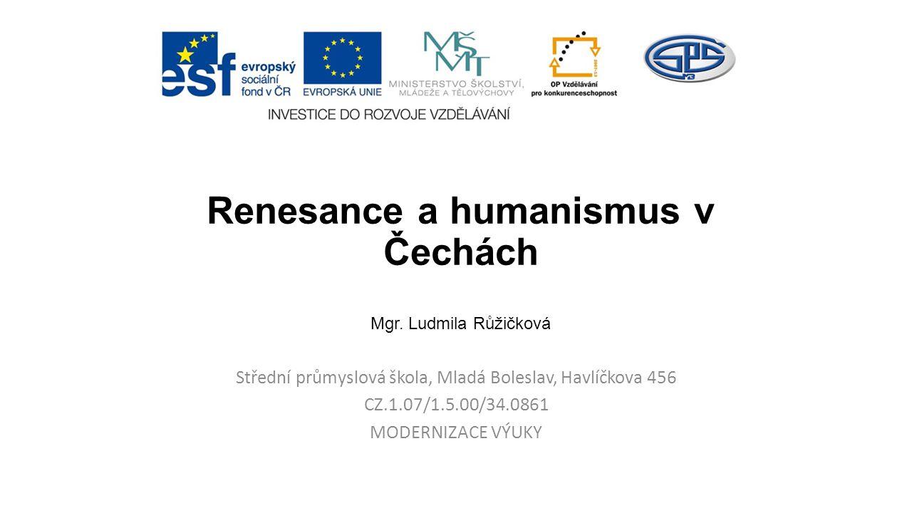 Renesance a humanismus v Čechách