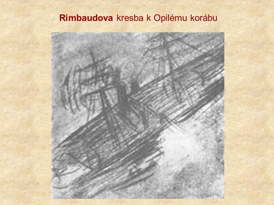 Rimbaudova kresba k Opilému korábu