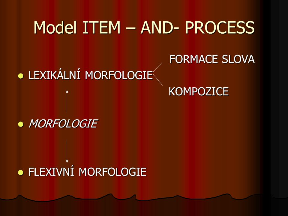 Model ITEM – AND- PROCESS