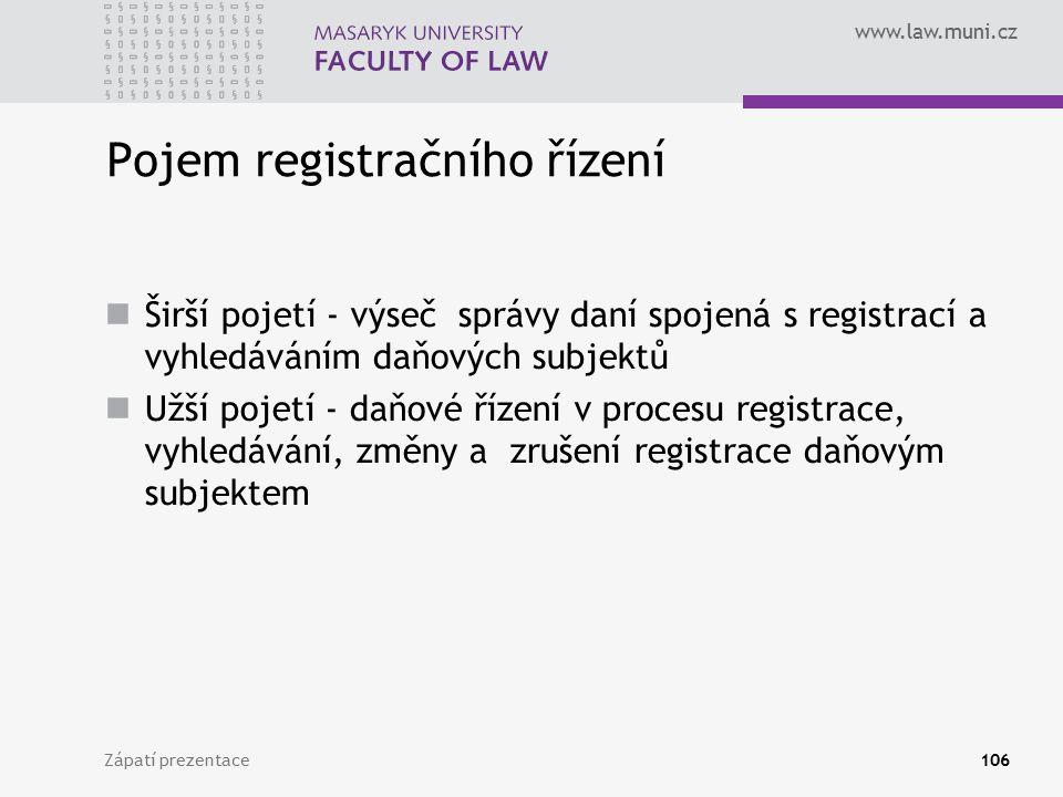 Pojem registračního řízení