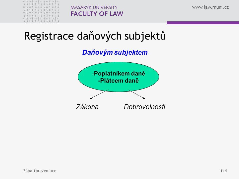 Registrace daňových subjektů