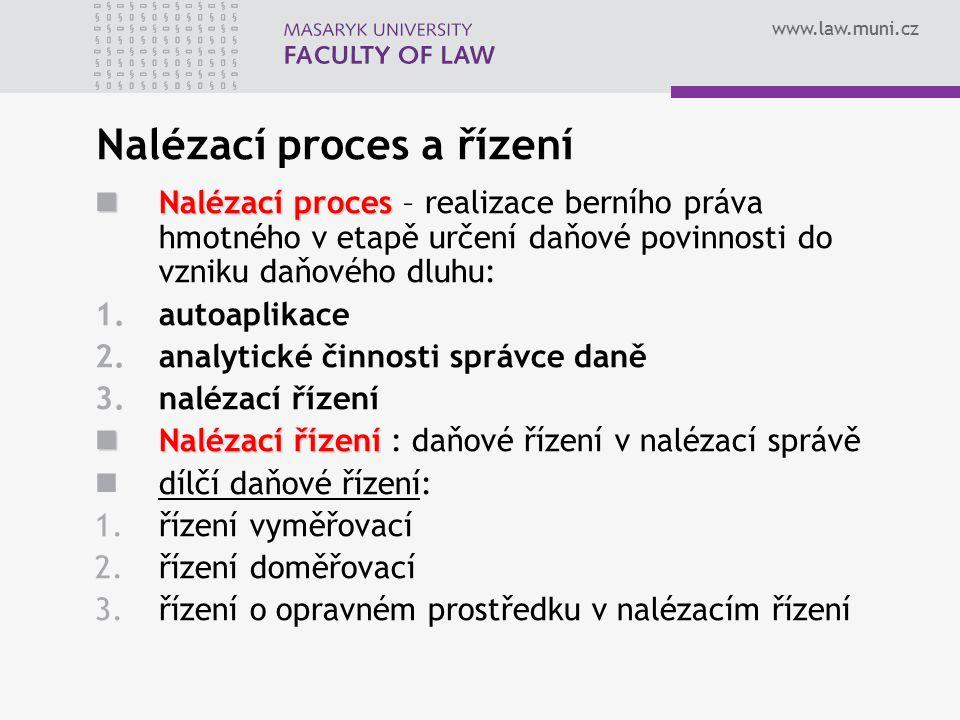 Nalézací proces a řízení