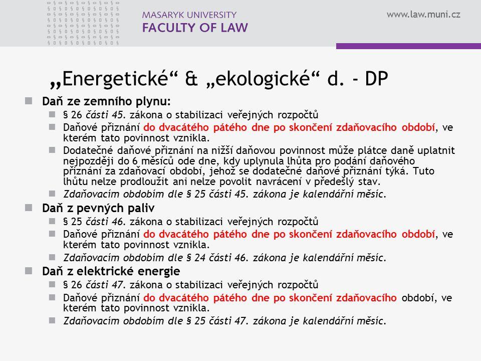 """""""Energetické & """"ekologické d. - DP"""