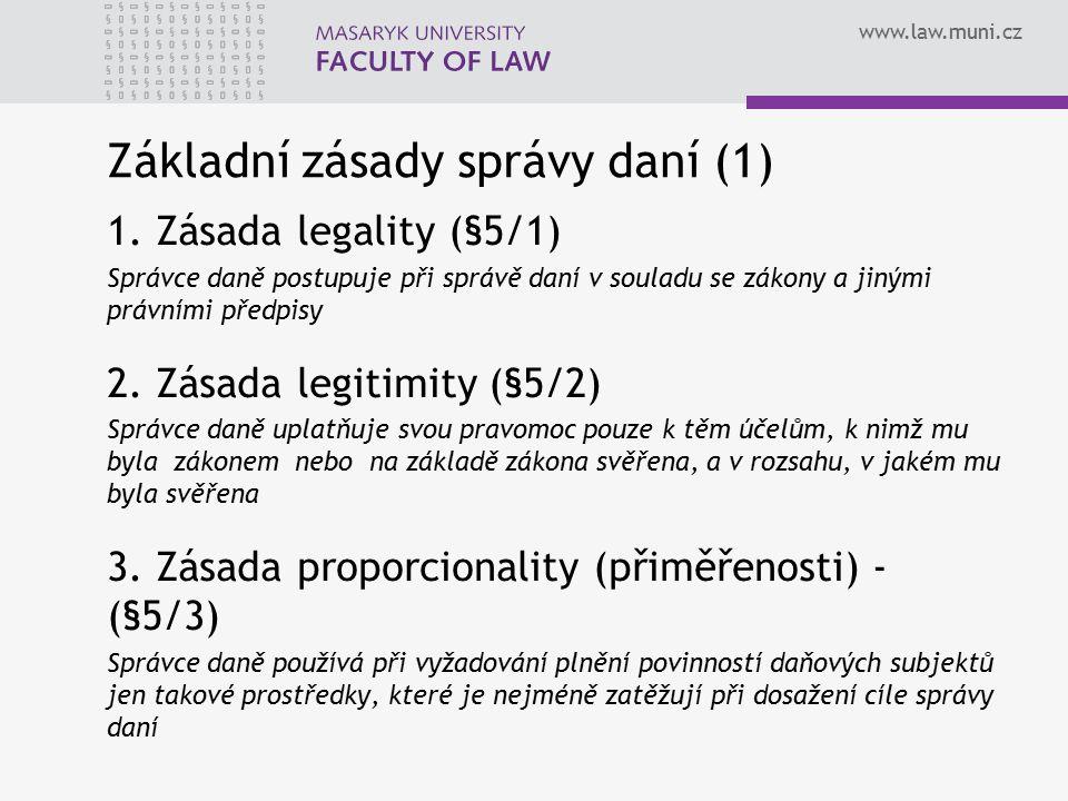 Základní zásady správy daní (1)
