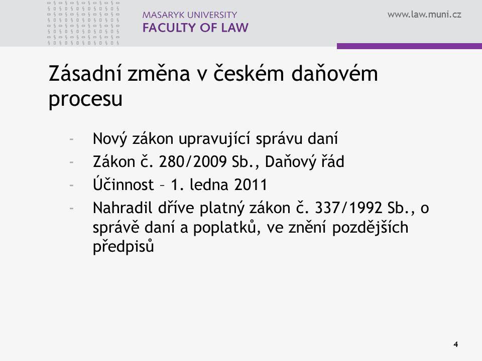 Zásadní změna v českém daňovém procesu