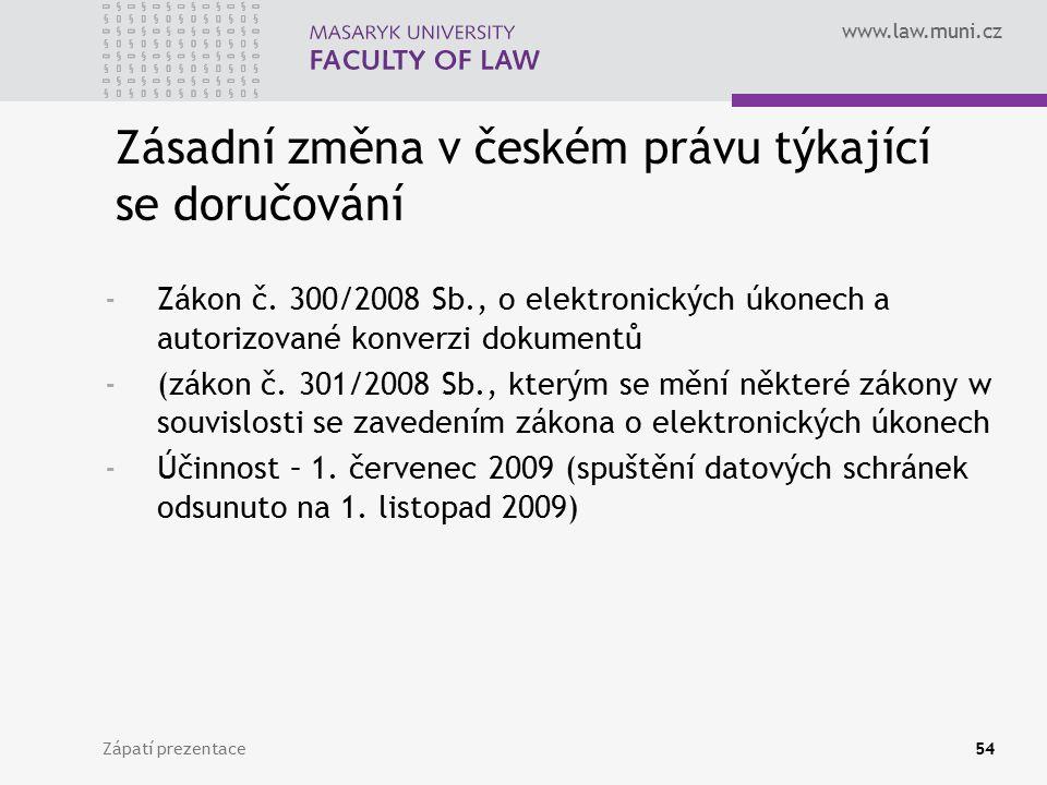 Zásadní změna v českém právu týkající se doručování