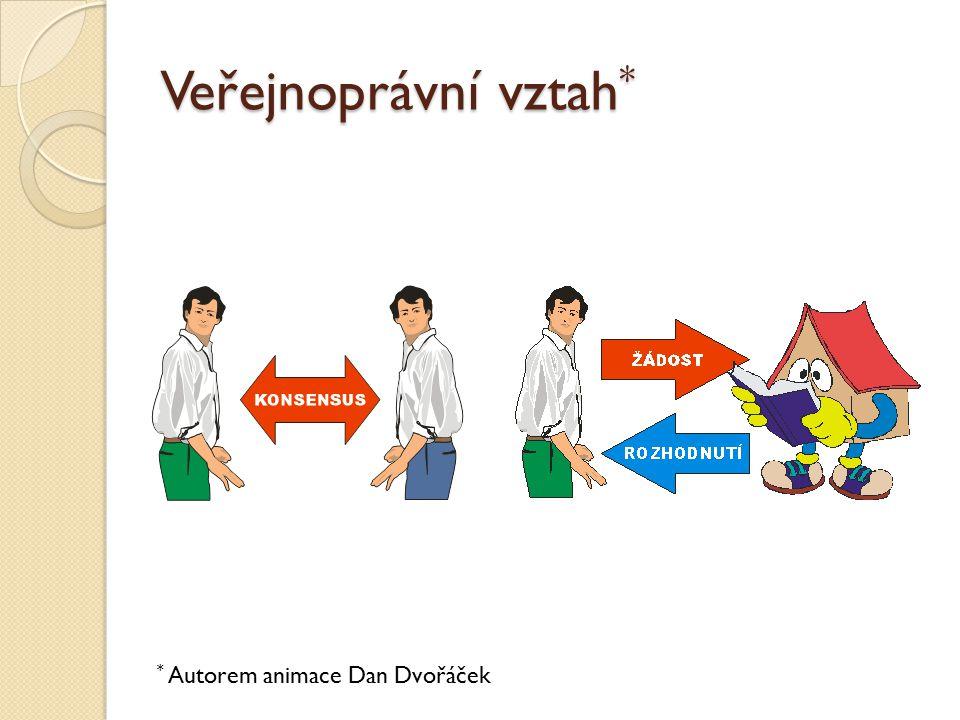 Veřejnoprávní vztah* * Autorem animace Dan Dvořáček