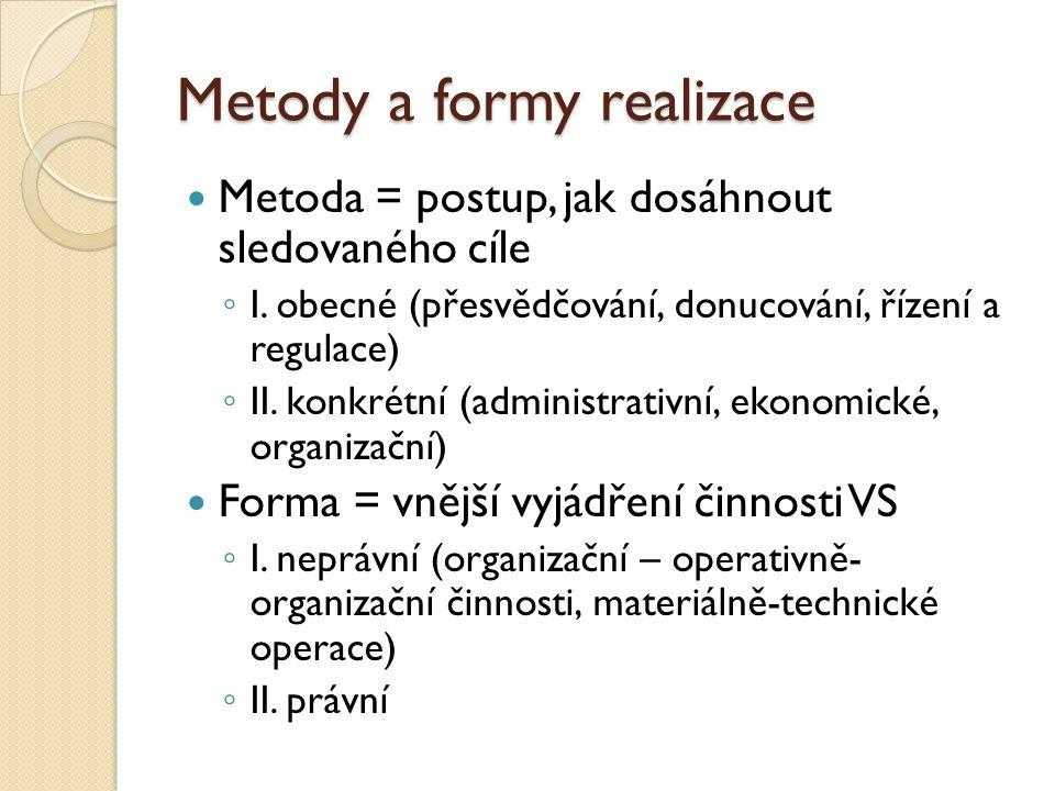 Metody a formy realizace