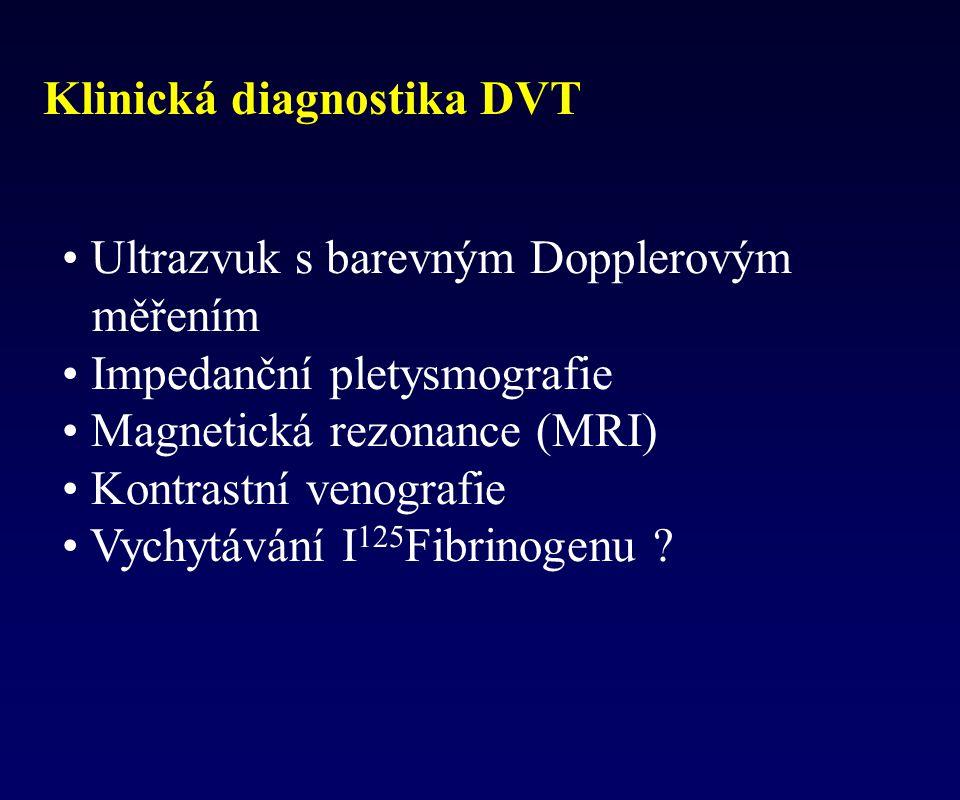 Klinická diagnostika DVT