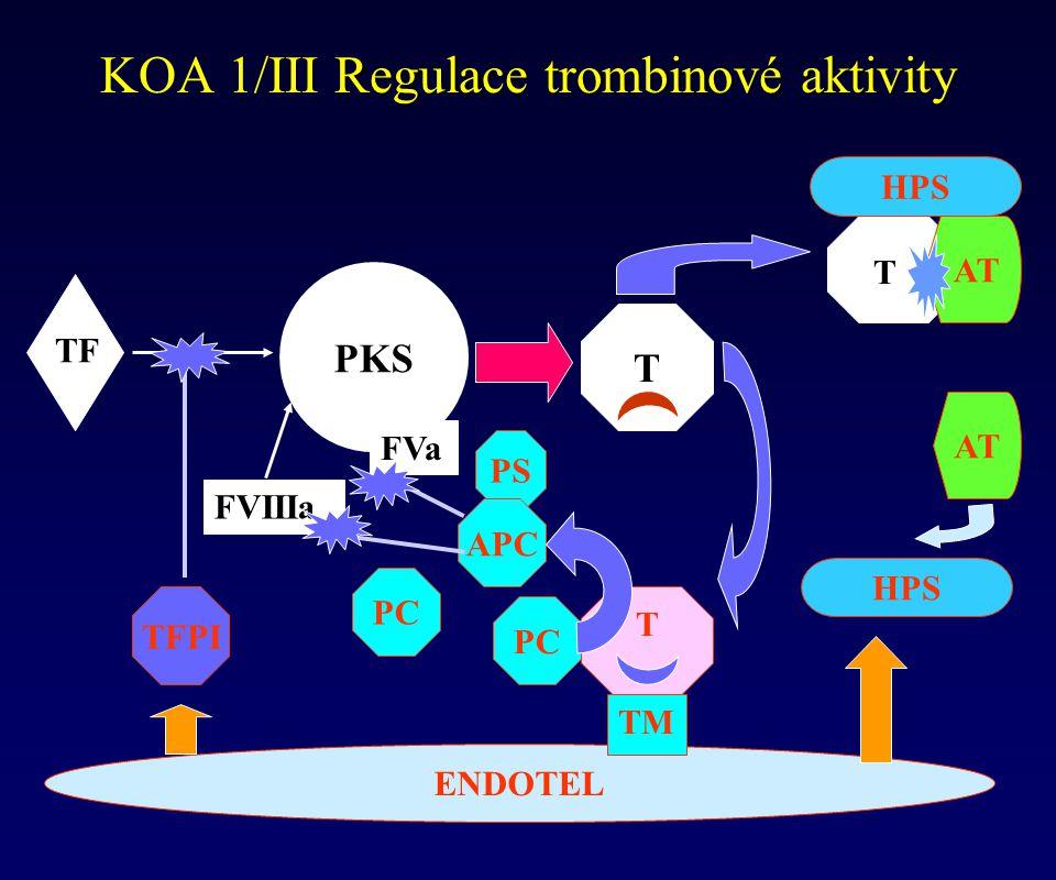 KOA 1/III Regulace trombinové aktivity