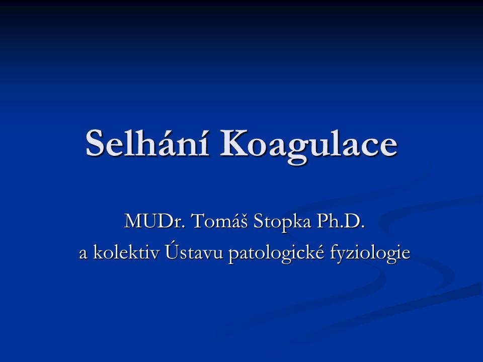 MUDr. Tomáš Stopka Ph.D. a kolektiv Ústavu patologické fyziologie