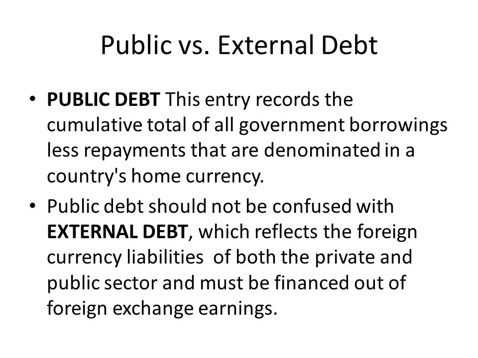 Public vs. External Debt