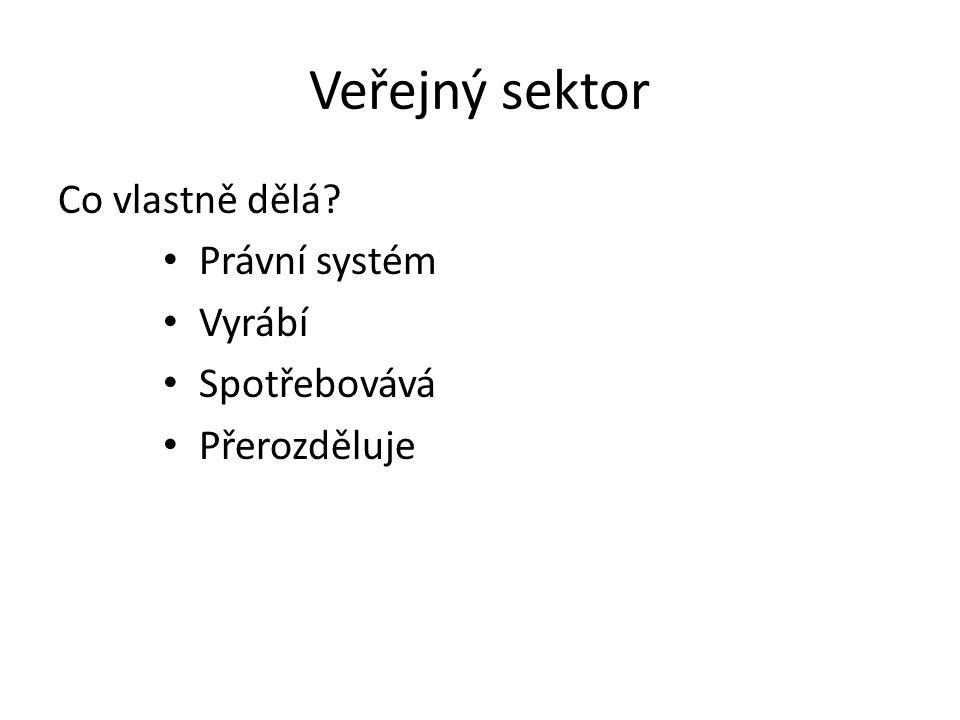 Veřejný sektor Co vlastně dělá Právní systém Vyrábí Spotřebovává
