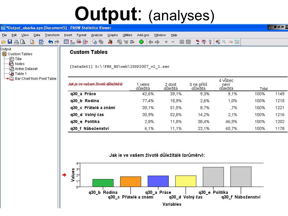 Output: (analyses)