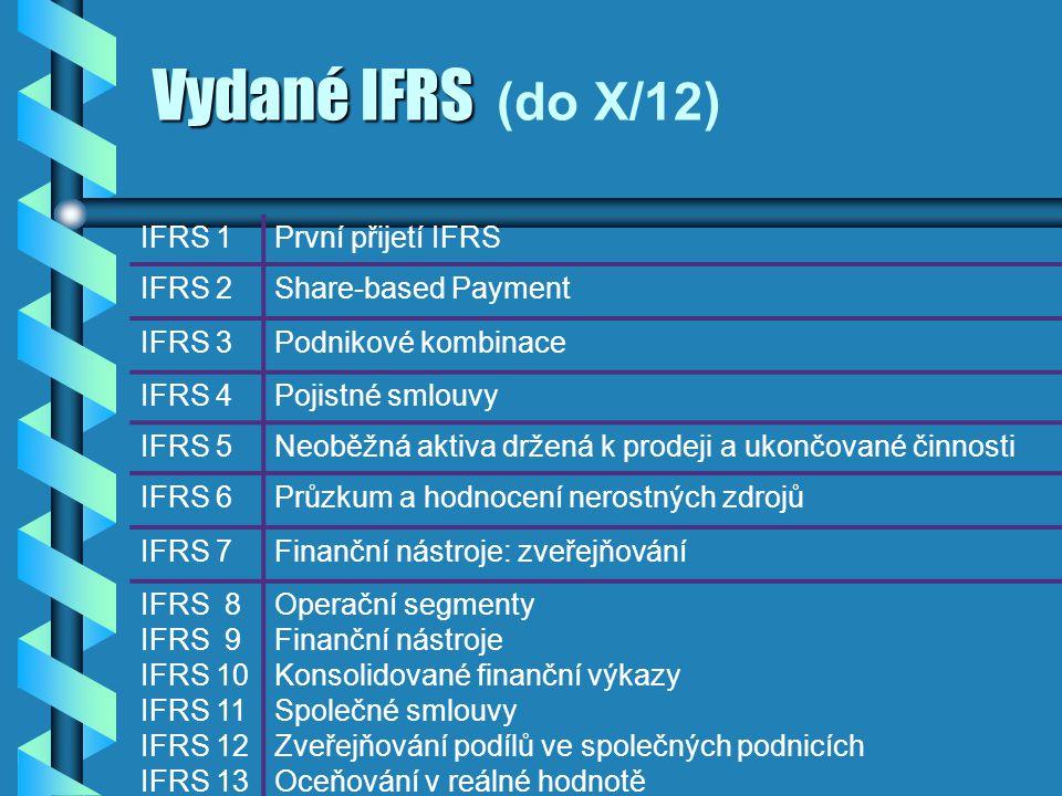 Vydané IFRS (do X/12) IFRS 1 První přijetí IFRS IFRS 2