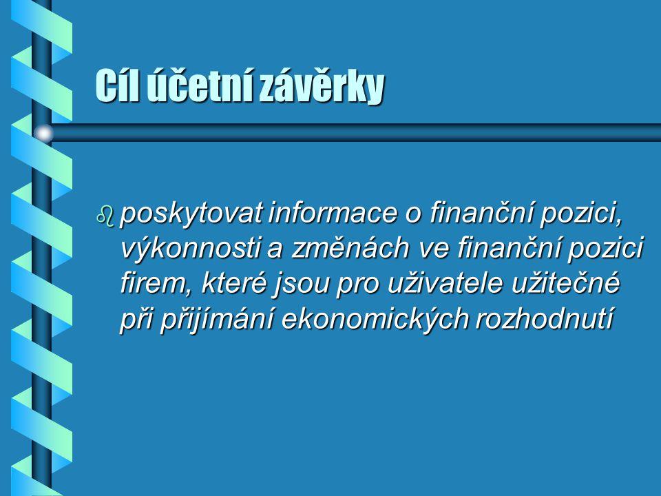 Cíl účetní závěrky