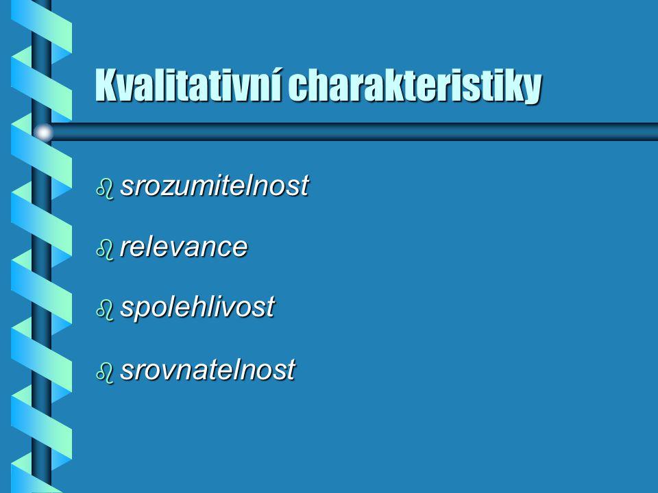 Kvalitativní charakteristiky