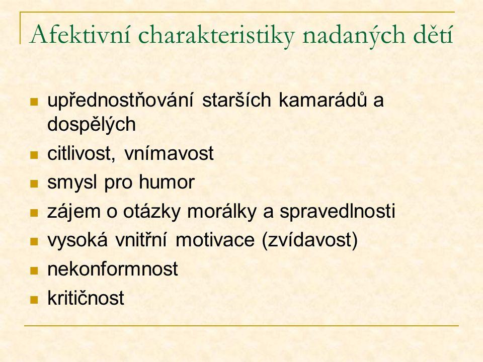 Afektivní charakteristiky nadaných dětí