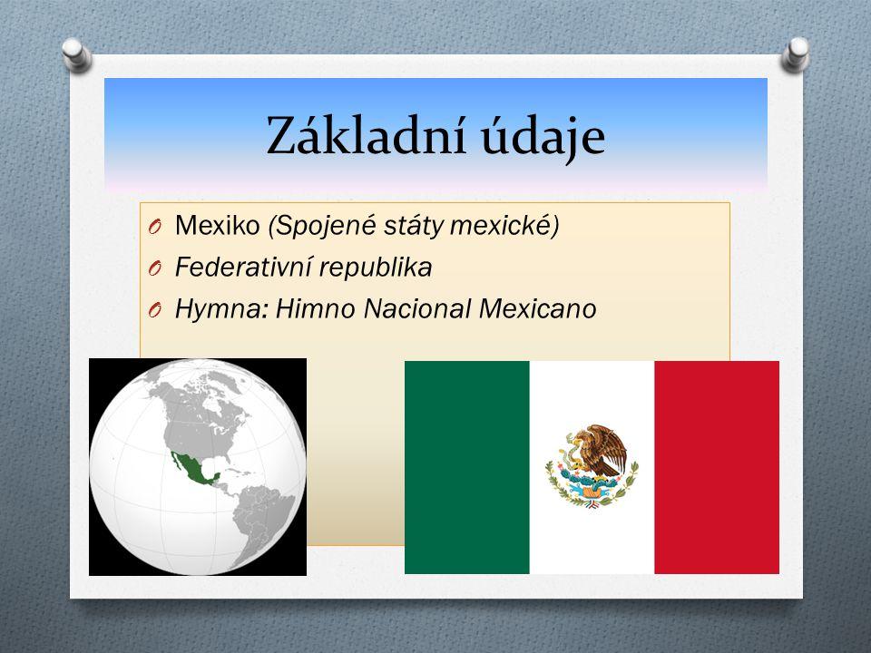 Základní údaje Mexiko (Spojené státy mexické) Federativní republika