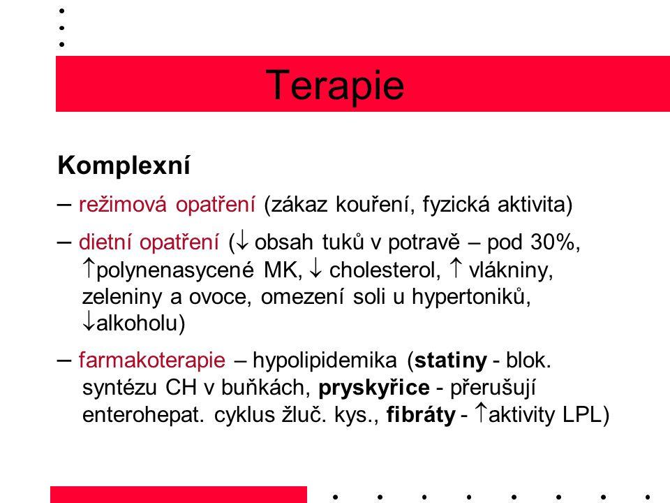Terapie Komplexní. – režimová opatření (zákaz kouření, fyzická aktivita)