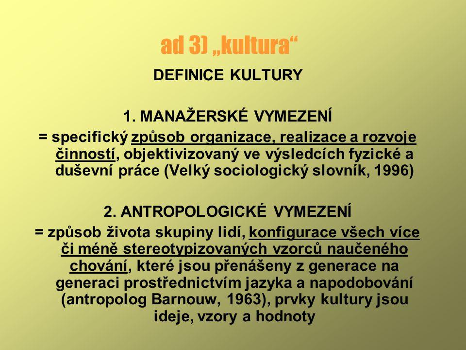 2. ANTROPOLOGICKÉ VYMEZENÍ