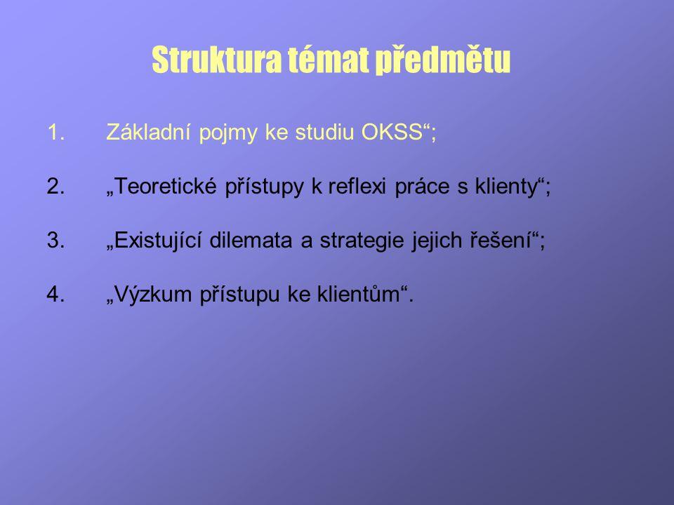 Struktura témat předmětu