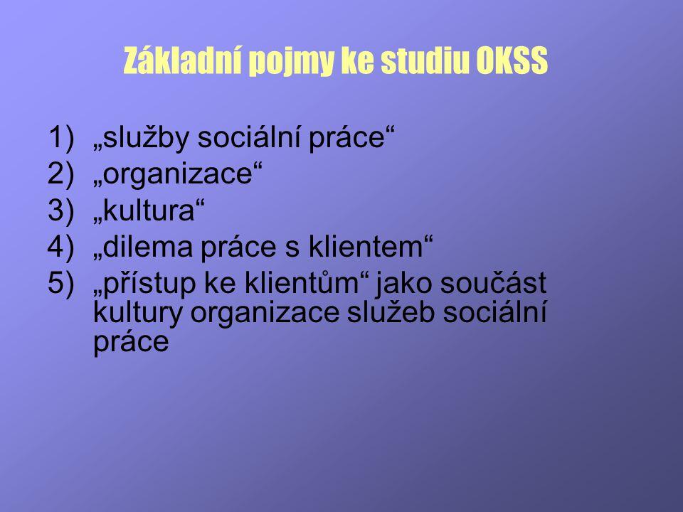 Základní pojmy ke studiu OKSS