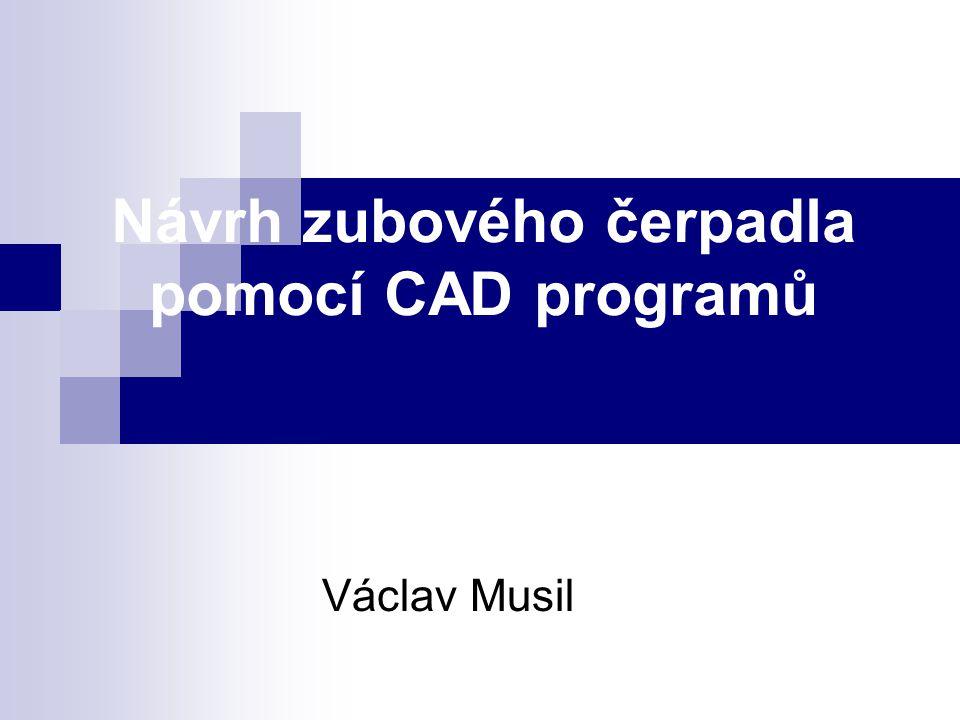 Návrh zubového čerpadla pomocí CAD programů
