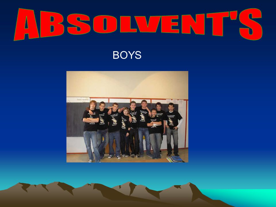 ABSOLVENT S BOYS