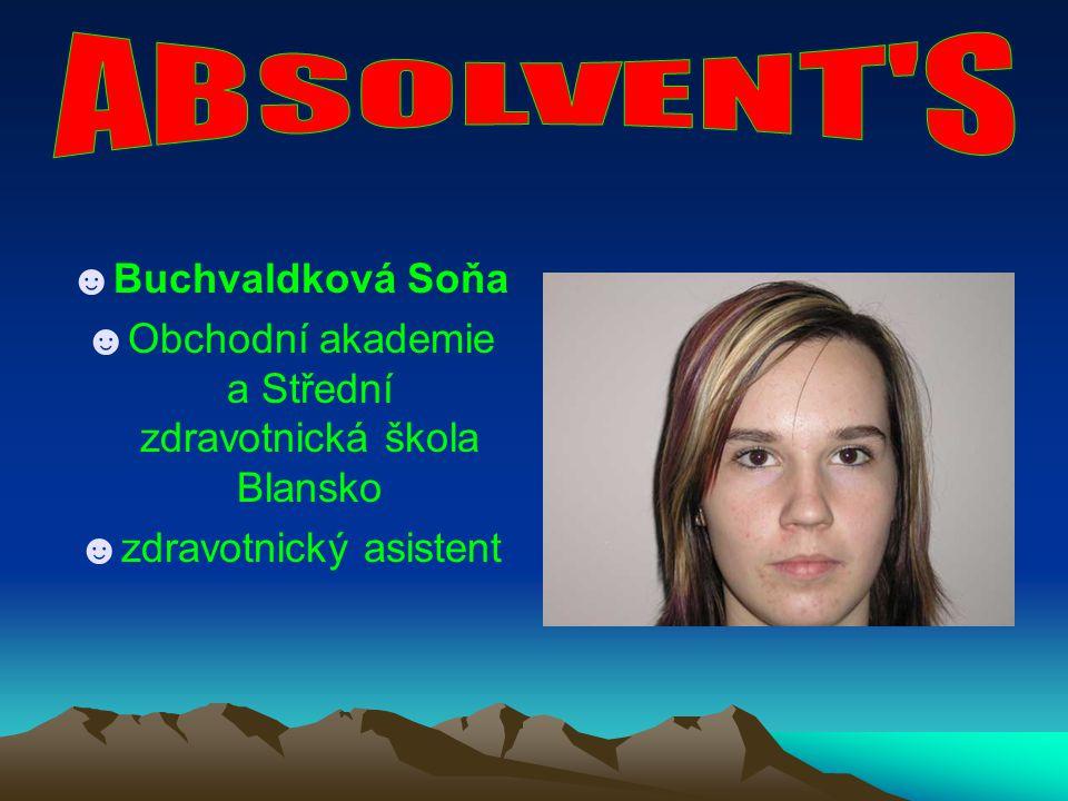 ABSOLVENT S Buchvaldková Soňa