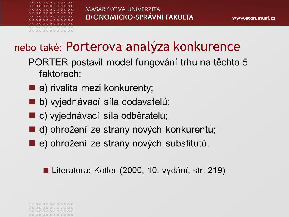 nebo také: Porterova analýza konkurence