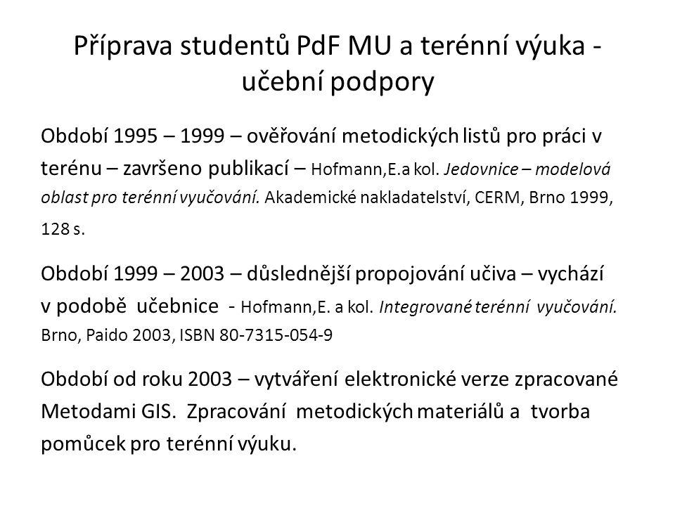 Příprava studentů PdF MU a terénní výuka - učební podpory