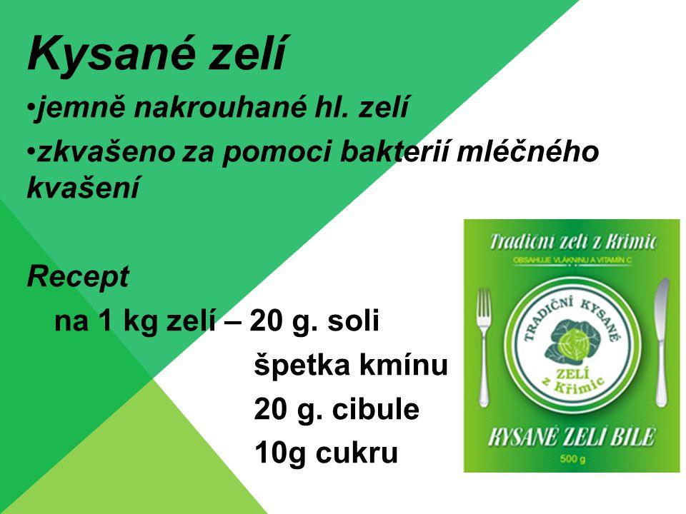 Kysané zelí jemně nakrouhané hl. zelí