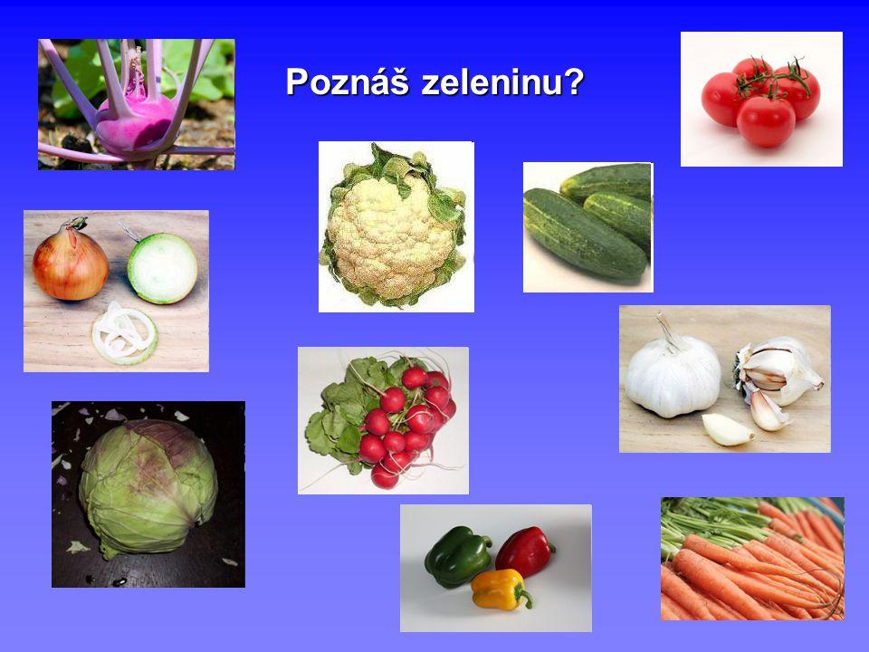 Poznáš zeleninu