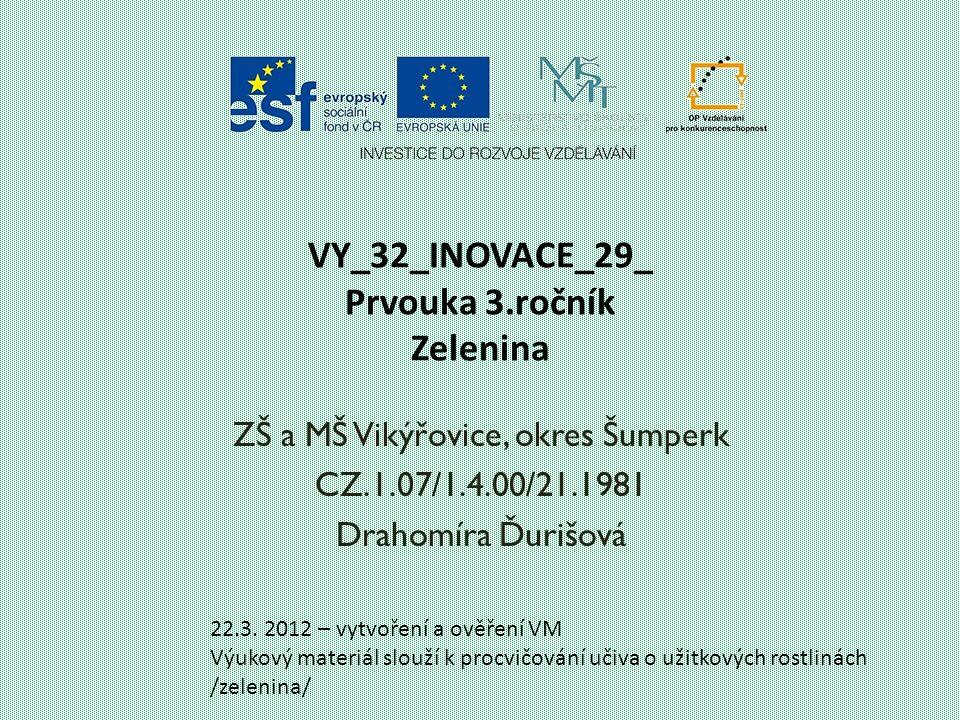 VY_32_INOVACE_29_ Prvouka 3.ročník Zelenina