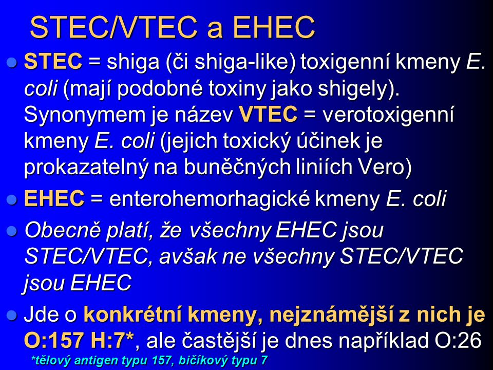 STEC/VTEC a EHEC