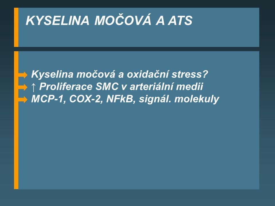 KYSELINA MOČOVÁ A ATS Kyselina močová a oxidační stress