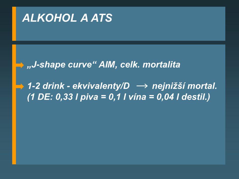 "ALKOHOL A ATS ""J-shape curve AIM, celk. mortalita"