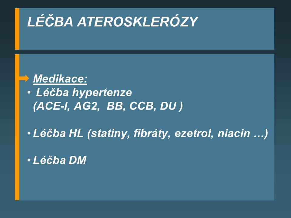 LÉČBA ATEROSKLERÓZY Medikace: