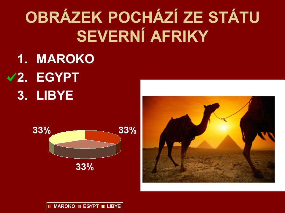 OBRÁZEK POCHÁZÍ ZE STÁTU SEVERNÍ AFRIKY