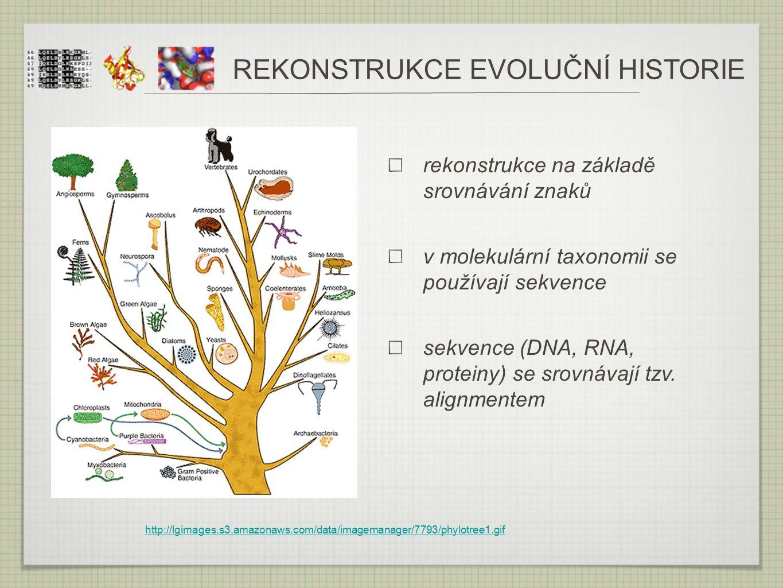 REKONSTRUKCE EVOLUČNÍ HISTORIE