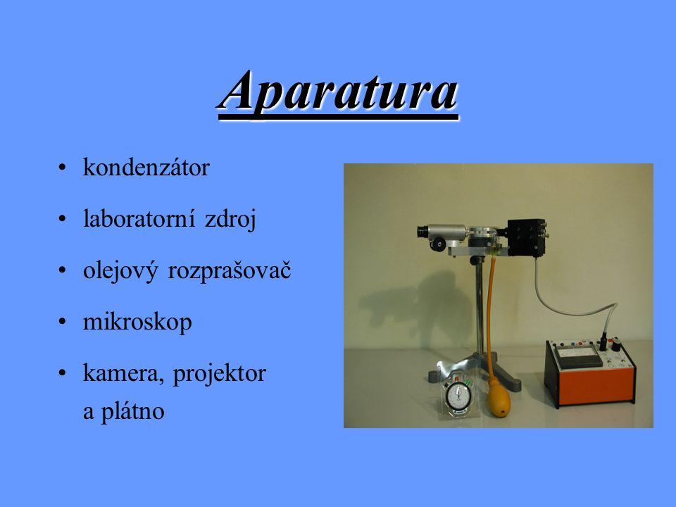 Aparatura kondenzátor laboratorní zdroj olejový rozprašovač mikroskop