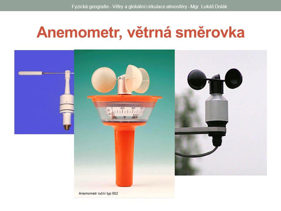 Anemometr, větrná směrovka