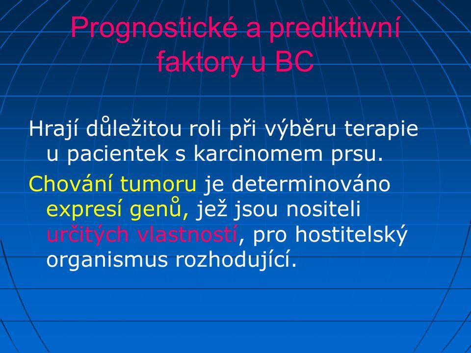 Prognostické a prediktivní faktory u BC