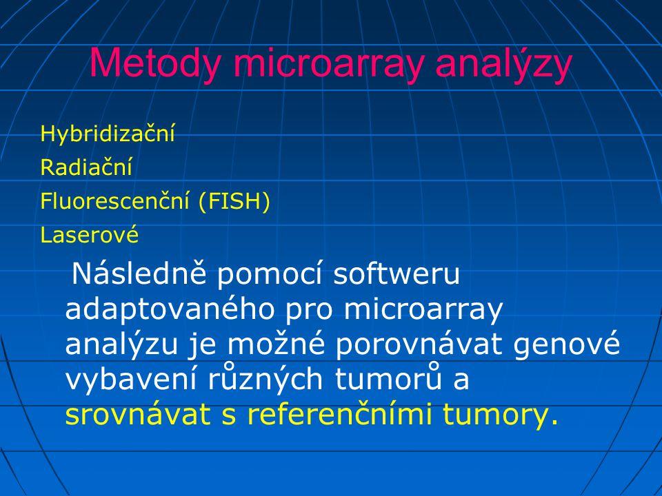 Metody microarray analýzy