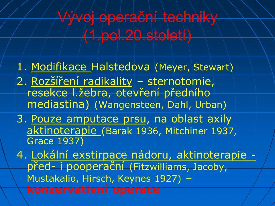 Vývoj operační techniky (1.pol.20.století)