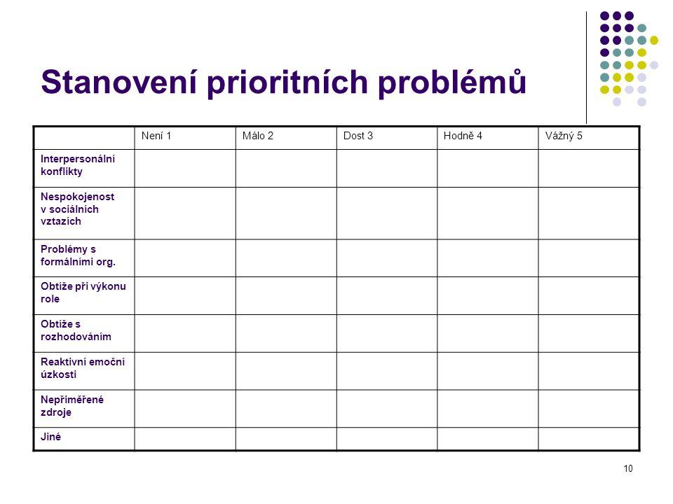 Stanovení prioritních problémů