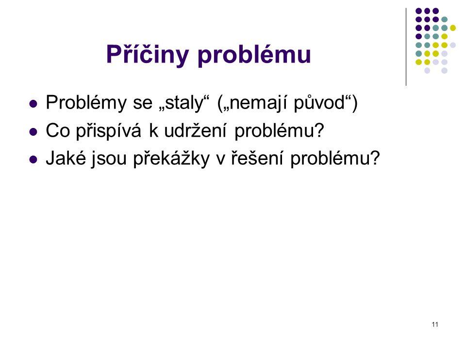 """Příčiny problému Problémy se """"staly (""""nemají původ )"""