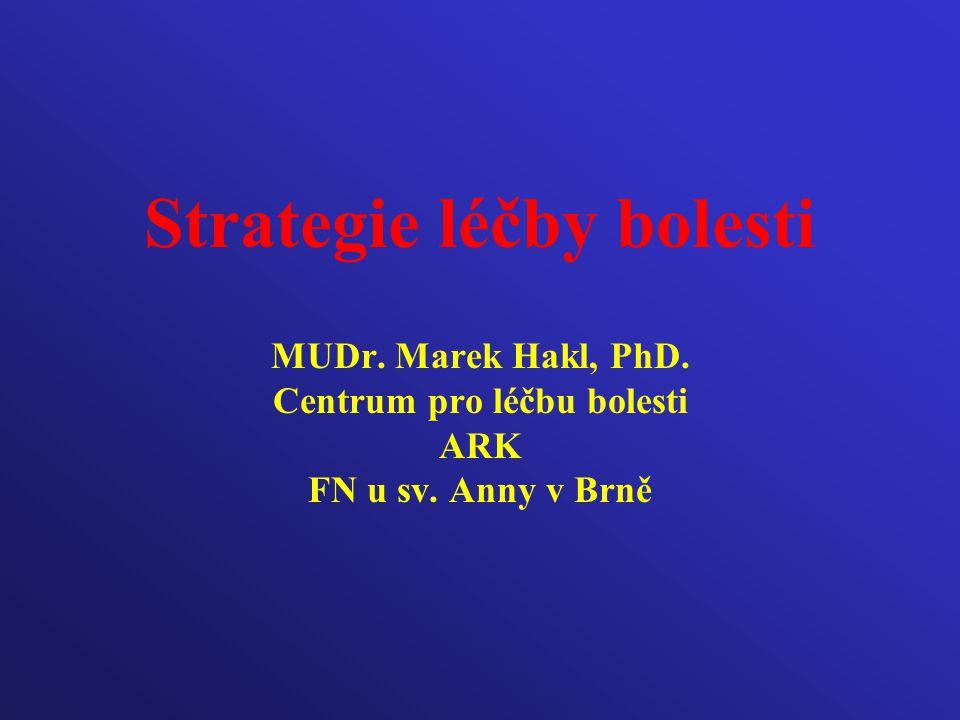 Strategie léčby bolesti